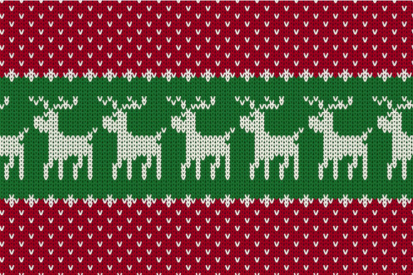 Print on Demand: Christmas Seamless Knitted Pattern Graphic Patterns By jann - Image 1