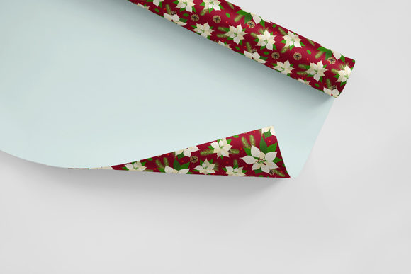 Print on Demand: Christmas Seamless Pattern Poinsettia Graphic Patterns By jann - Image 4