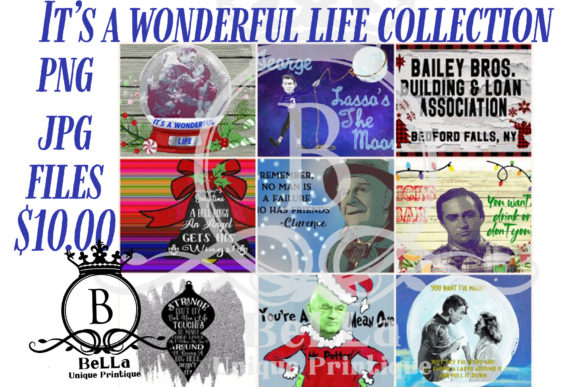 It's a Wonderful Life Graphic Collection Gráfico Ilustraciones Por BellaUniquePrintique