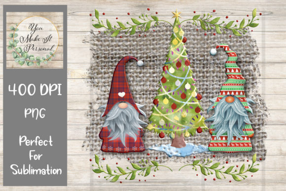 Print on Demand: Holiday Gnome Design Graphic Print Templates By You Make It Personal - Image 1
