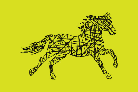Line Shape Horse Design Graphic Objects By curutdesign