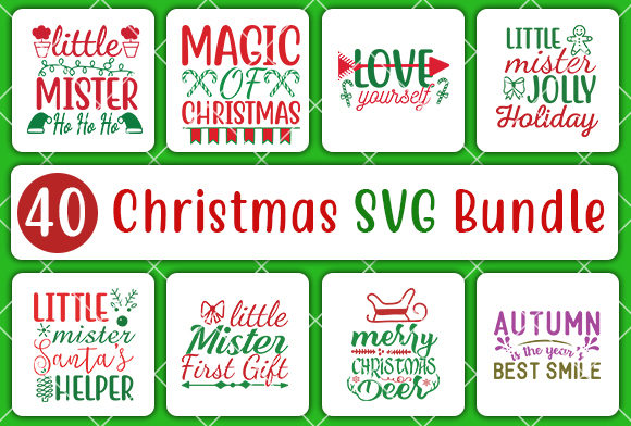 Print on Demand: Christmas Bundle Graphic Crafts By CreativeArt - Image 5