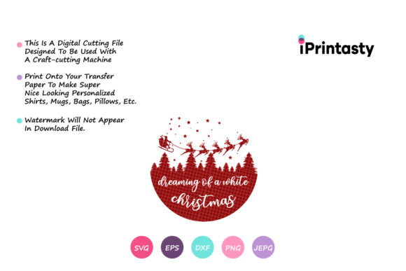 Print on Demand: Dreaming of a White Christmas Graphic Crafts By iprintasty - Image 2