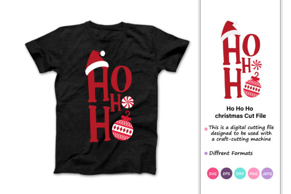 Print on Demand: Ho Ho Ho Funny Christmas Quotes Graphic Crafts By iprintasty - Image 1