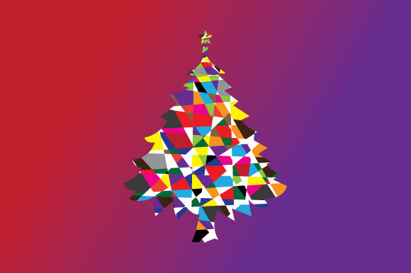 Download Free Colorful Christmas Tree Graphic By Curutdesign Creative Fabrica for Cricut Explore, Silhouette and other cutting machines.