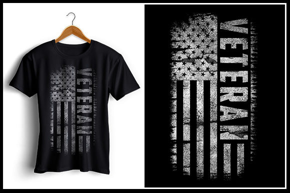 Print on Demand: Veteran - USA Flag Grafik Designvorlagen von zaibbb