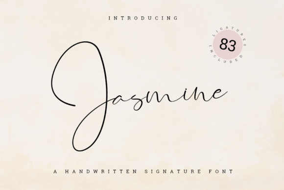 Print on Demand: Jasmine Script & Handwritten Font By jimtypestudio