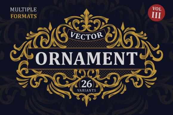 Victorian Vector Ornaments Vol. III Graphic Objects By Arterfak Project