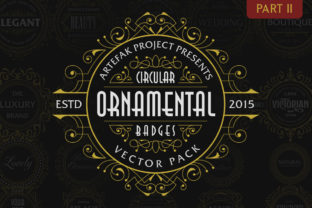 Print on Demand: Circular Ornamental Badges Part II Graphic Objects By Arterfak Project 1