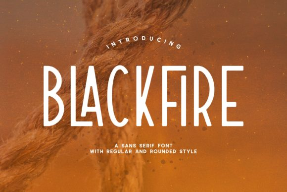 Print on Demand: Blackfire Sans Serif Fuente Por Fype Co.