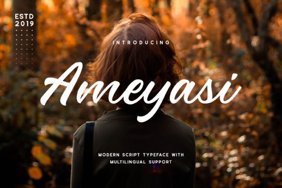 Print on Demand: Ameyasi Display Font By Fype Co.