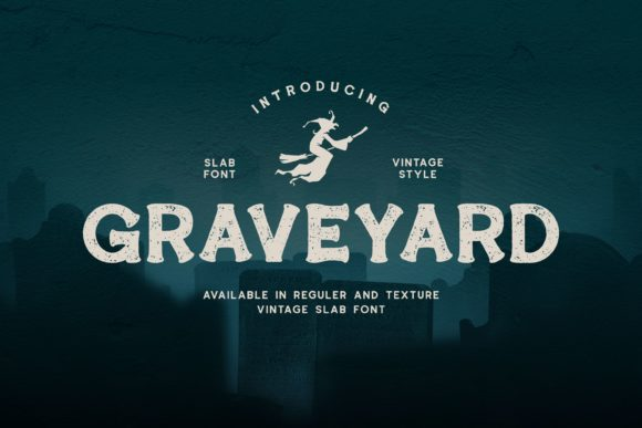 Print on Demand: Graveyard Display Schriftarten von Fype Co.