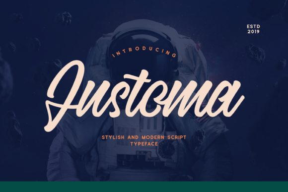 Print on Demand: Justoma Display Font By Fype Co.
