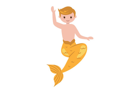 Child Merman Designs & Drawings Craft Cut File By Creative Fabrica Crafts
