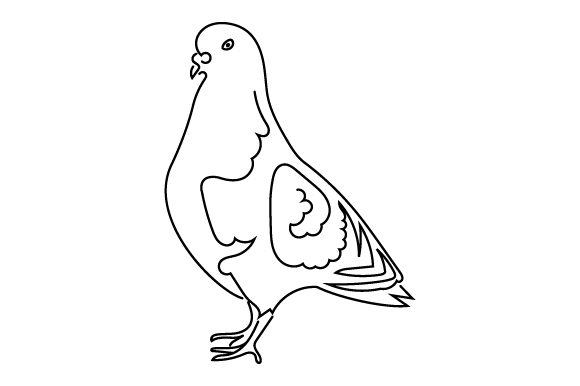 Pigeon (line Art Style) Animals Craft Cut File By Creative Fabrica Crafts