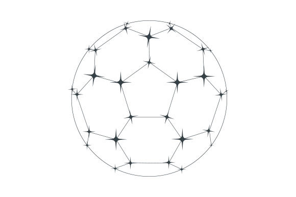 Download Free Soccer Ball Constellation Svg Cut File By Creative Fabrica for Cricut Explore, Silhouette and other cutting machines.