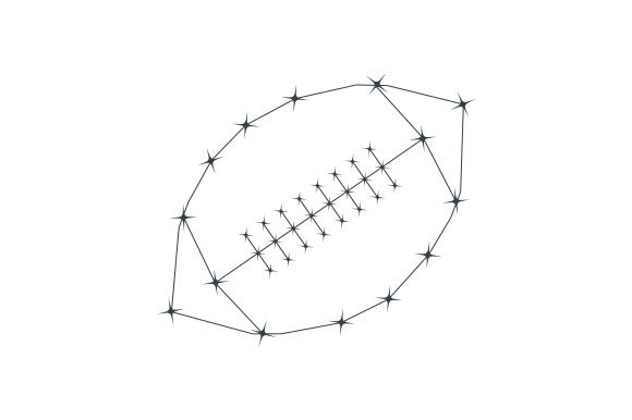 Football Constellation Sports Craft Cut File By Creative Fabrica Crafts - Image 1