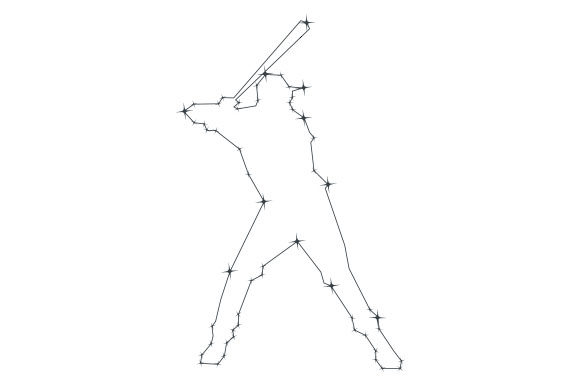 Download Free Baseball Player Constellation Svg Cut File By Creative Fabrica for Cricut Explore, Silhouette and other cutting machines.