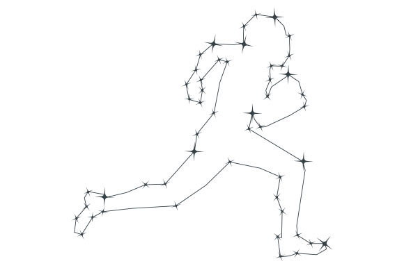 Football Player Constellation Sports Craft Cut File By Creative Fabrica Crafts - Image 1