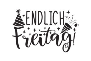 Endlich Freitag! Germany Craft Cut File By Creative Fabrica Crafts