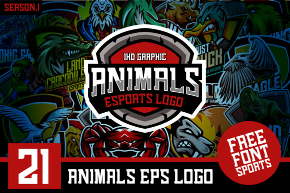 21 Animals Logo Esports Include Font Graphic Logos By Ikhsan Hidayat