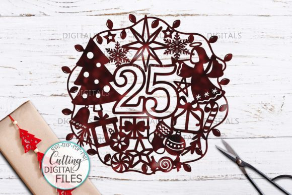 25 December Ornament Cut Template Graphic Crafts By Cornelia - Image 3