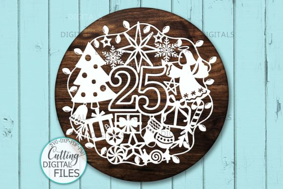 25 December Ornament Cut Template Graphic Crafts By Cornelia - Image 4