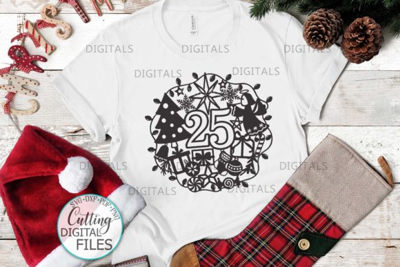 25 December Ornament Cut Template Graphic Crafts By Cornelia - Image 5