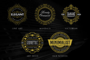 Print on Demand: Circular Ornamental Badges Part II Graphic Objects By Arterfak Project 4