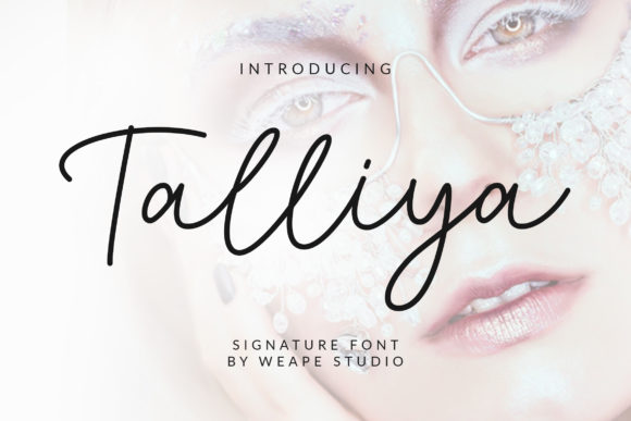 Print on Demand: Talliya Script & Handwritten Font By Weape Design