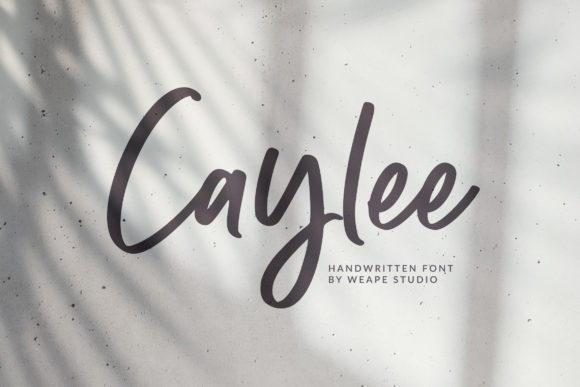 Print on Demand: Caylee Script Script & Handwritten Font By Weape Design