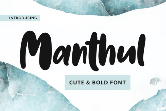 Print on Demand: Manthul Script & Handwritten Font By Weape Design