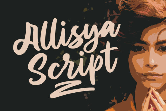 Print on Demand: Allisya Manuscrita Fuente Por Weape Design