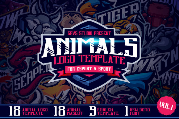 Animals Mascot Logo Template Graphic Logos By febryan.satria1