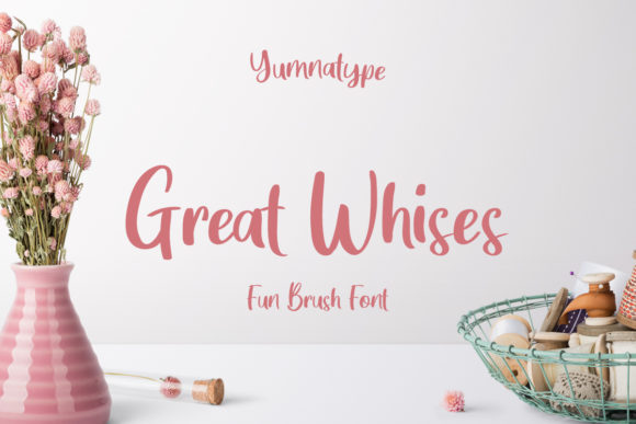 Download Free Great Wishes Font By Yumna Type Creative Fabrica for Cricut Explore, Silhouette and other cutting machines.