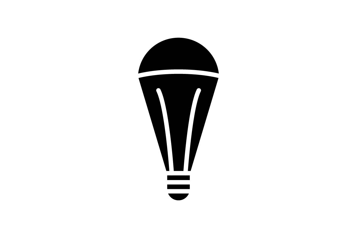 Download Free Light Bulb Icon Vector Illustration Graphic By Hoeda80 for Cricut Explore, Silhouette and other cutting machines.