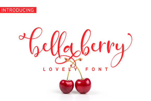 Print on Demand: Bella Berry Manuscrita Fuente Por Juncreative