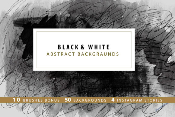 Black & White Backgrounds / Instagram Graphic Textures By sto-va