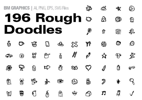 Print on Demand: Rough Doodle Pack Graphic Illustrations By GraphicsBam Fonts