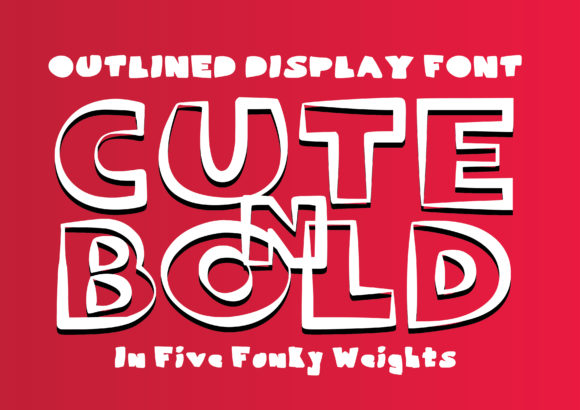 Print on Demand: Cute 'n' Bold Script & Handwritten Font By GraphicsBam Fonts - Image 1