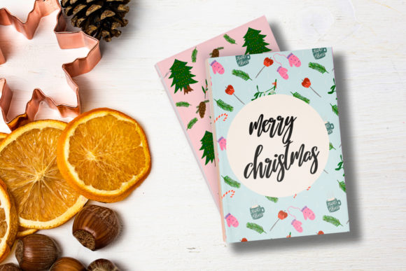 Christmas Cards//20 Elements Graphic Print Templates By Masha Artifex - Image 10