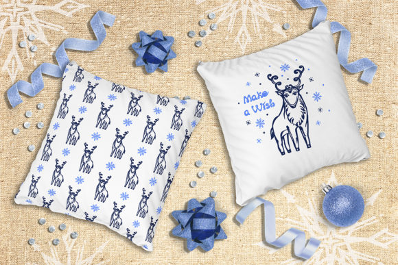 Christmas Deer, Patterns and Cards Graphic Illustrations By AV Design - Image 4