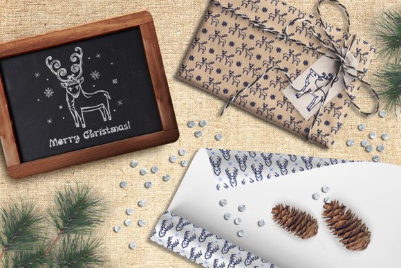 Christmas Deer, Patterns and Cards Graphic Illustrations By AV Design - Image 5