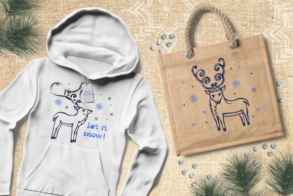 Christmas Deer, Patterns and Cards Graphic Illustrations By AV Design - Image 6