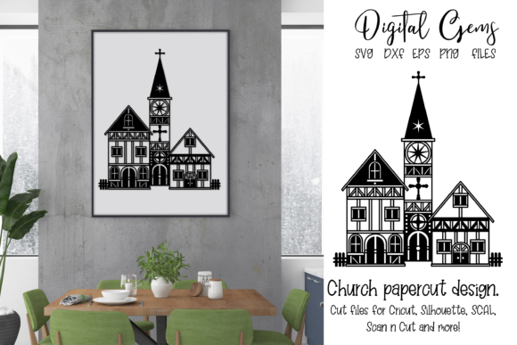 Church Papercut Design Graphic Crafts By Digital Gems - Image 1