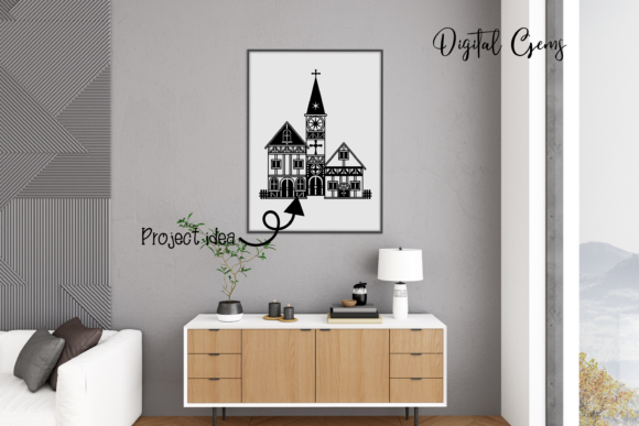 Church Papercut Design Graphic Crafts By Digital Gems - Image 2