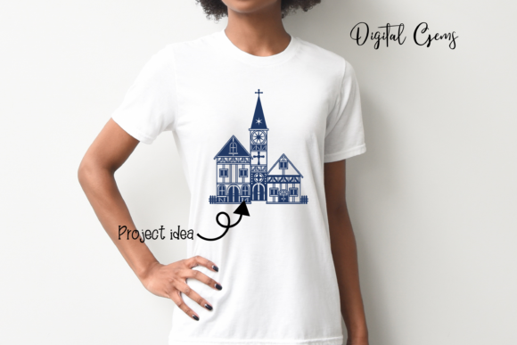 Church Papercut Design Graphic Crafts By Digital Gems - Image 3