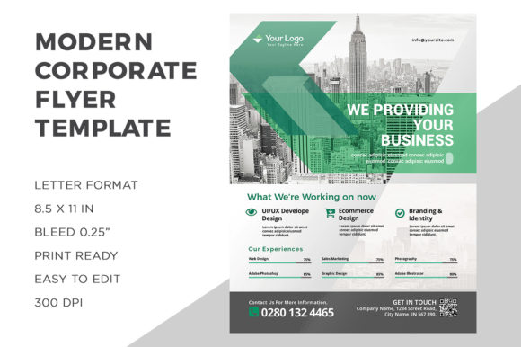 Corporate Business Flyer Graphic Print Templates By ivanjoys19