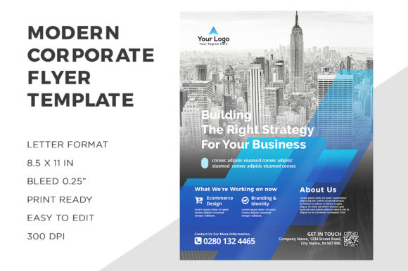Corporate Flyer Graphic Print Templates By ivanjoys19