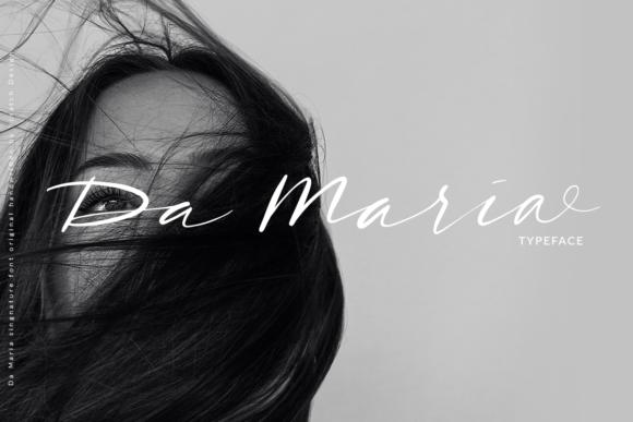 Print on Demand: Da Maria Script & Handwritten Font By Scratch Design - Image 1